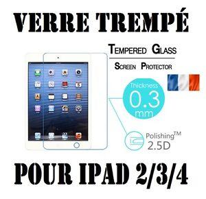 Vitre de Protection Film écran en VERRE TREMPE 9H Apple iPad 2/3/4