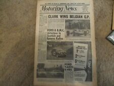 Motoring News 17 June 1965 Scottish Geneva Rally Nurburgring 6 Hours Belgian GP
