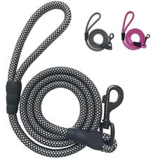 Dog Training Lead Rope Heavy Duty Braided Nylon Leash with Handle for Walking