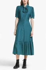BNWT Somerset Alice Temperley Peacock Heart Midi Shirt Dress Green UK 10 RRP£100