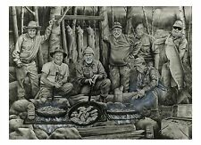 "85 ""Shore Lunch With The Hall Of Famers"" 22x30 Canvas Print by Robert Metropulos"