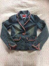 Gorgeous RELEXE JEANS ladies Denim Blazer Jacket-size 10. Chest 34in
