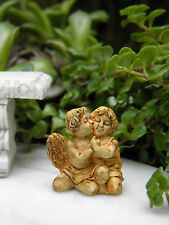 "Miniature Dollhouse FAIRY GARDEN Accessories ~ Aged 1"" Cherub Angel Couple"