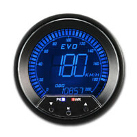 85 mm Auto Digital GPS Speedometer 4 Color LCD Display 12 V with Mounting KMH
