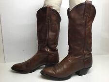 WOMENS TONY LAMA COWBOY BROWN BOOTS SIZE 7.5 M