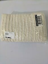 """West Elm Soft Corded Throw, 50""""x60"""", Natural (creamish in color) NEW"""