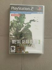 METAL GEAR SOLID 3 SNAKE EATER PS2 ITA NUOVO SIGILLATO New PAL