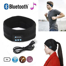 Wireless Bluetooth Sports Headband USB Stereo Headphone Handsfree Sleep Headset