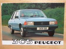 PEUGEOT 305 RANGE 1980 UK Mkt Fold-Out Sales Brochure - GL GR SR GRD