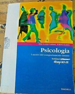 PSICOLOGIA. I MOTIVI DEL COMPORTAMENTO UMANO - 7a ED - A.OLIVERIO - ZANICHELLI