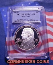 2005-P MARSHALL COMMEMORATIVE SILVER DOLLAR PCGS PR69DCAM BRIGHT MIRROR FINISH
