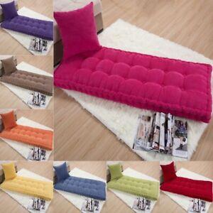 Long Cushion Thickening Garden Chair Cushion Home Seat Mat Floor Bench Cushion