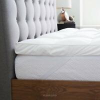 LUCID 3'' Ultra Plush Mattress Topper 100% Cotton Percale Cover Down Alternative