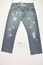 Levis 501 Customized ( Cod. WB354) tg.50 W36 L Jeans Remake Rips Destroy
