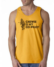 241 Chewie is my Co-Pilot Tank Top chewbacca wookiee star vintage wars new cool