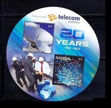 Namibia MNH Odd Unusual Round Shape SS, Telecommunications, 100 yrs -NM4