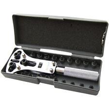 Tornillo Ajustable posterior Reloj Funda Abridor / removedor de herramienta Kit de reparación.