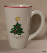 "Fitz and Floyd Essentials Merry Christmas Mug ""Trees""  5.25"""