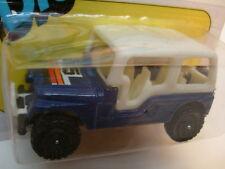 1983 METTOY CORGI JUNIORS DIE-CAST BLUE CJ-6 RENEGADE JEEP MOC