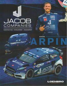 2017 Steve Arpin Jacob Companies Ford Fiesta ST Global RallyCross GRC Hero Card
