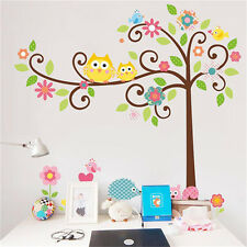 DIY Removable Owl Tree Squirrel Wall Sticker Mural Decal Kids Home Room Decor SU