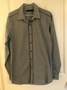 WAYNE COOPER Grey Long Sleeved Shirt Small Excellent Condition Size S Cotton