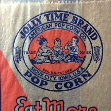 Original Vintage JOLLY TIME American POP CORN Co Bag Sioux City Iowa