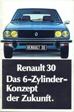 Renault 30TS German market full colour sales brochure - 2