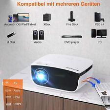 Heimkino Beamer LED 5500 Lumen mit Screen Projektor 1080P, 240