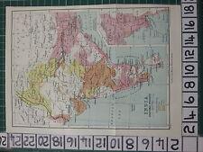 1926 mapa turístico de la India India Indio ~ productos vegetales semillas mijo aceite de café