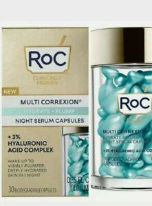 RoC Multi Correxion Hydrate + Plump Serum Capsules~ 30 Capsules New/Sealed!!