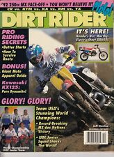 DIRT RIDER - December 1991 - Jeff Stanton / Team USA's World Champions / KX2125