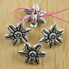 15pcs Tibetan silver 2 hole flower spacer beads h0470