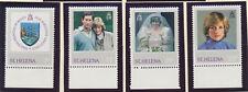 St. Helena Stamp Set Scott #372-5, Mint Never Hinged MNH, Princess Diana