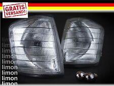 2x FRONTBLINKER SET in GRAU für MERCEDES 190E 190D W201 Limousine Blinker S179