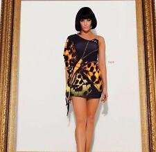 Black Summer Tunic Kaftan Long Top Beach Bikini Cover Up Mini Dress Outfit S