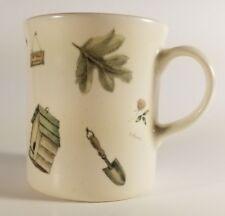 Pfaltzgraff Naturewood 12oz Coffee Mug Stoneware Gardening Pattern