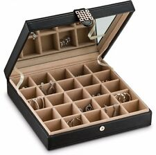 Earring organizer Holder -25 Slot Jewelry Box / Case / Holder for Earrings Black