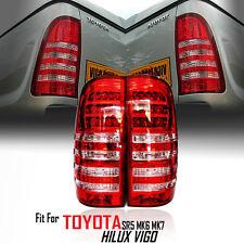 1 PAIR Red LED Tail Light FOR TOYOTA Hilux Vigo SR5 MK6 05-11 Champ MK7 11-14