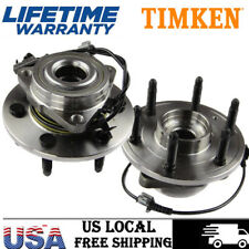 Front TIMKEN Wheel Hub & Bearing Assembly for Silverado 1500 Sierra 4x4 Set (2)