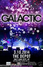 GALACTIC 2014 SALT LAKE CONCERT TOUR POSTER - Jazz Fusion, Jam Rock Music Band