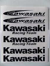 6 x Kawasaki pegatinas team racing y Racing Team-en negro o blanco