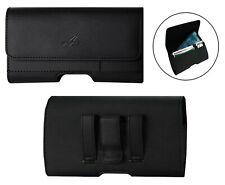 Leather Horizontal Belt Clip Case Holster W/ Credit Card Slot for Samsung Phones