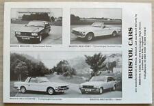 BRISTOL CAR RANGE Car Sales Brochure c1976 BRITANNIA Beaufighter BRIGAND