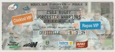 """Collection Rugby Ticket """"E. Cup""""  Bourgoin Jallieu - Worceter Warriors  05/12/08"""
