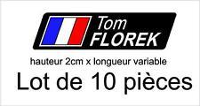 10 Stickers Autocollants signature personnalisé et drapeau / vélo cadre course