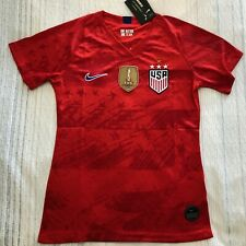 USA USWNT Away Soccer Player version Jersey with 4 stars - FIFA 2019 CHAMPIONS
