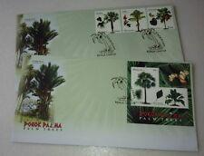 2009 Malaysia Palm Trees 3v Stamp FDC + MS FDC (Kuala Lumpur Cancellation)
