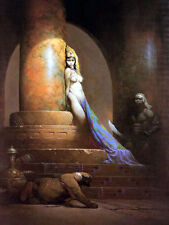 "FRANK FRAZETTA Fantasy Art Prints Canvas Textured Finish ""Egyptian Queen""2.4"