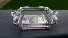 "Crystal Cambridge Gadroon Square Bowl 6 3/4"" X 5 1/2"" X 1 1/2"""